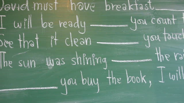 panning with blackboard.