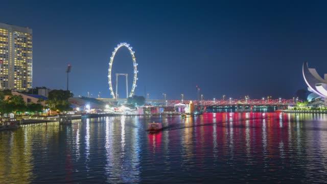 180-Grad-Blick auf die Skyline von Singapur Innenstadt CBD schwenken/zoom