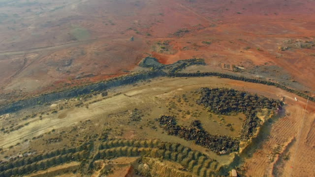 panorama goldfields and old gold mine in the australian outback. aerial view - gold mine stock videos and b-roll footage