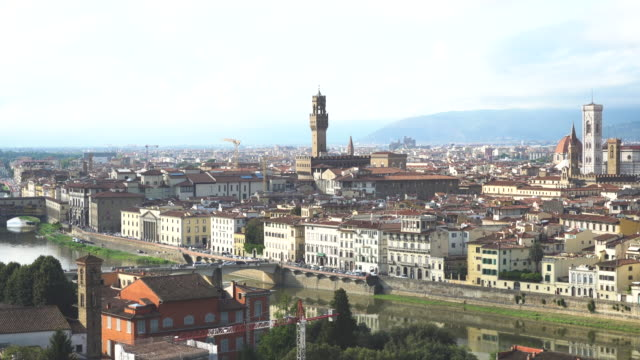 panorama of florence skyline - fiore stock videos & royalty-free footage