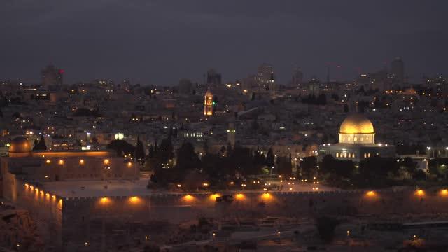 panorama of jerusalem - jerusalem stock videos & royalty-free footage