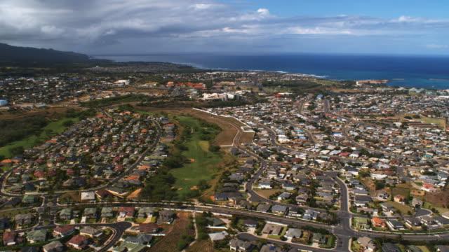panorama of kahului, hawaii - artbeats stock videos & royalty-free footage