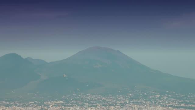Panorama della Baia di Napoli, Italia, dal Vesuvio al porto