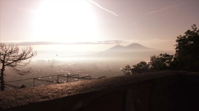 vídeos de stock e filmes b-roll de panorama of naples - distrito