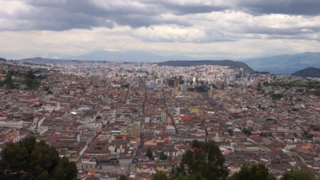 Panorama of Quito city from the hill