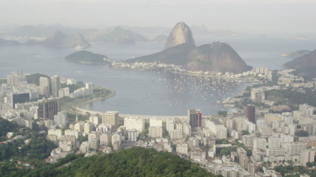 stockvideo's en b-roll-footage met panorama of rio de janeiro from lookout - zuid amerika