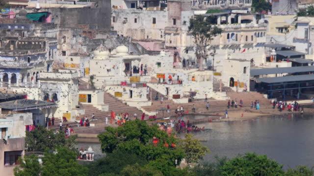Panorama of the city and the sacred lake. India, Pushkar