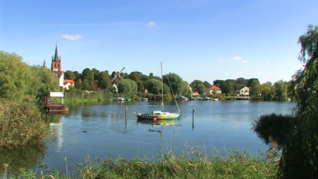 """Panorama of the city """"Werder"""" in Germany"""