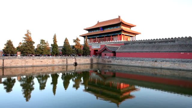 panorama of the forbidden city in antumn