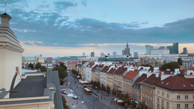 panorama of warsaw - poland stock videos and b-roll footage