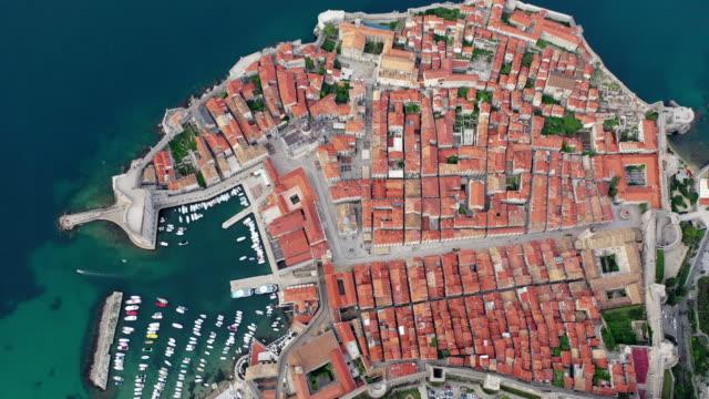 panorama of zadar / croatia - above stock videos & royalty-free footage