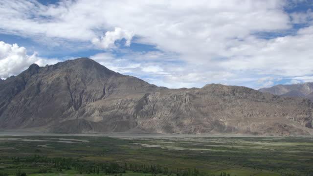 Panorama View of Nubra Valley in the Ladakh Range, Ladakh, India