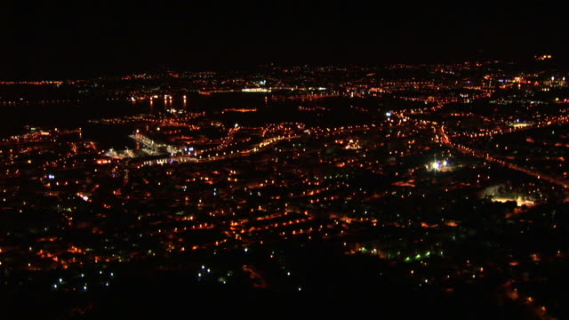 vídeos de stock, filmes e b-roll de hd: vista panorâmica da cidade - cidade pequena