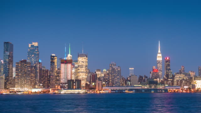Panoramic Day to Night Time Lapse of NYC Skyline