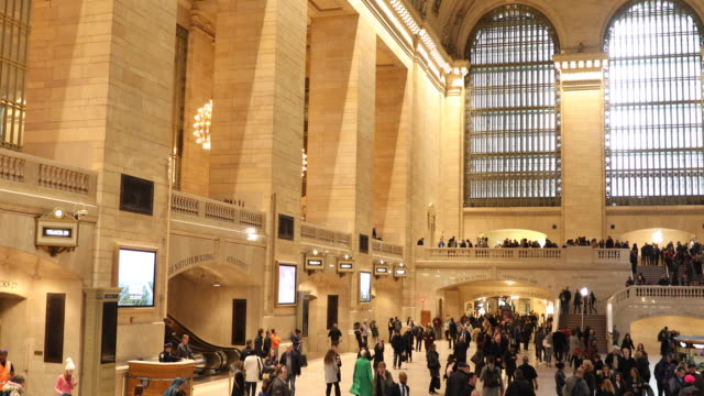 パノラマ グランド ・ セントラル駅ニューヨーク - グランドセントラル駅点の映像素材/bロール