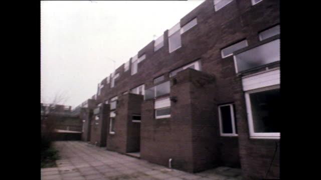 panoramic gv of modern residential housing; 1980 - brick stock videos & royalty-free footage