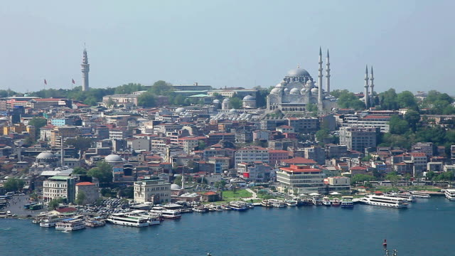 hd: panoramic istanbul scene - topkapi palace stock videos and b-roll footage