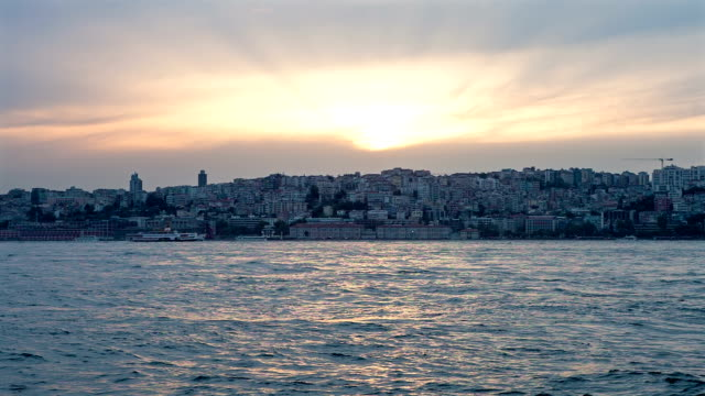 hd: panoramic istanbul - golden horn istanbul stock videos and b-roll footage