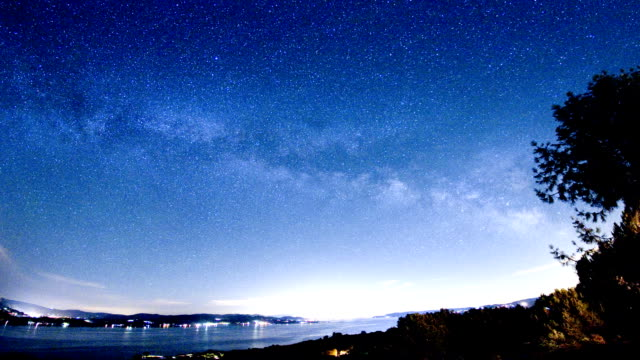 panoramic night sky - northern california stock videos and b-roll footage