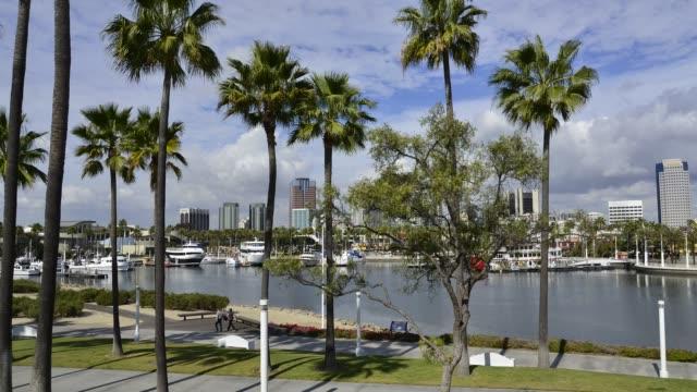 Panoramic of Downtown Long Beach, California