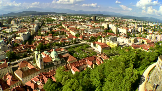 WS AERIAL Panoramic Of Ljubljana