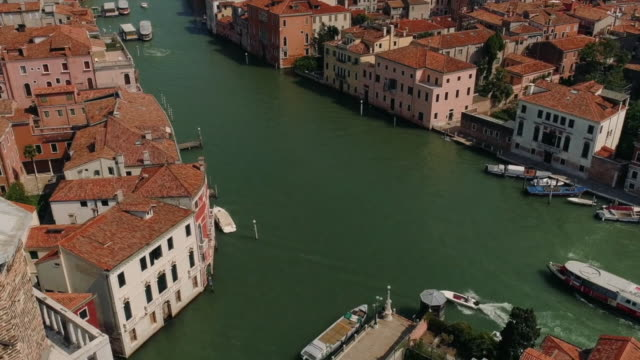 panoramic of venice,  italy from the heights in summer - stock video - ヴェネツィア点の映像素材/bロール