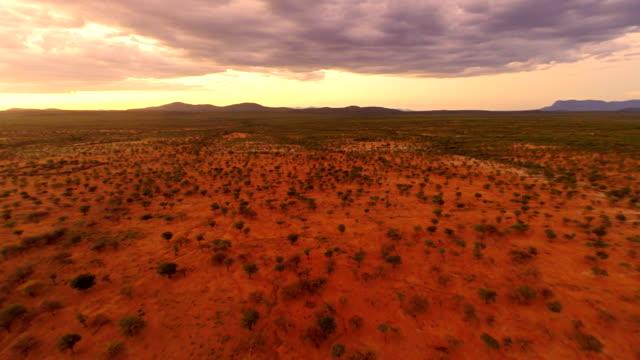 HELI Panoramic Shot Of Himba Settlement