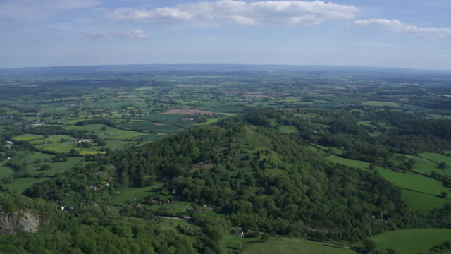 panoramic shot of the malvern hills - hooved animal stock videos & royalty-free footage
