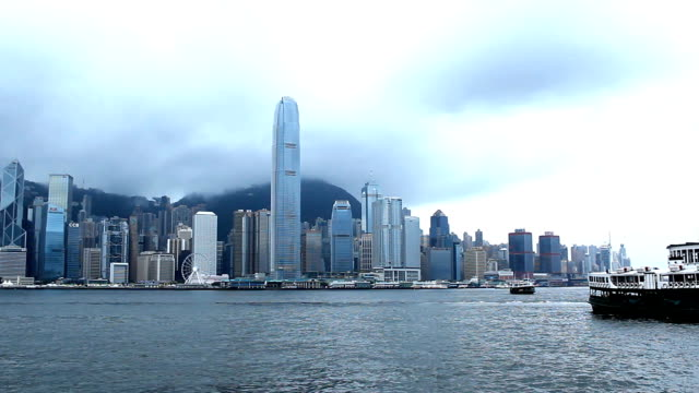 Panoramic skyline,modern buildings of hong kong