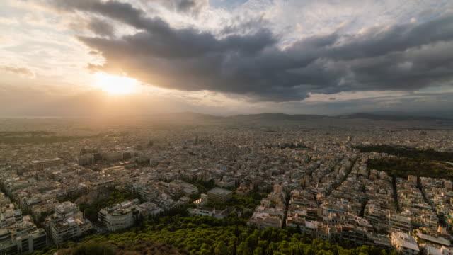 Panoramic timelapse of Athens Skyline