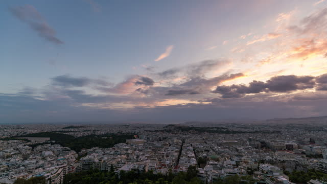 Panoramic timelapse of Athens Skyline