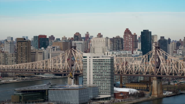 panoramic timelapse of the queeensboro bridge, new york city - queensboro bridge stock videos & royalty-free footage