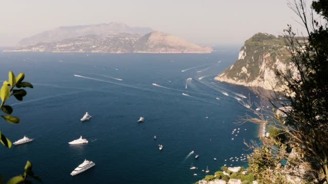 panoramic view capri - amalfi stock videos and b-roll footage