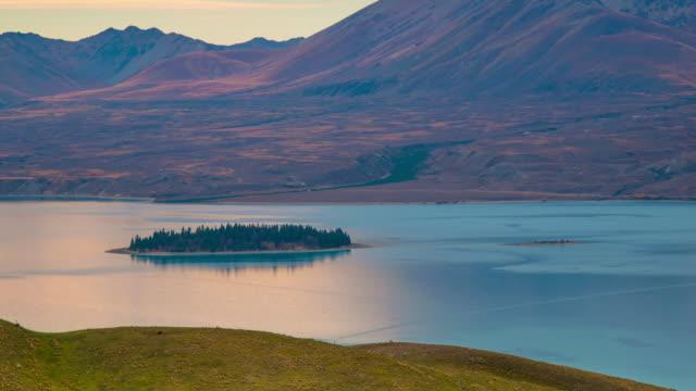 Panoramisch uitzicht op natuur landschap in Zuid eiland, Nieuw-Zeeland