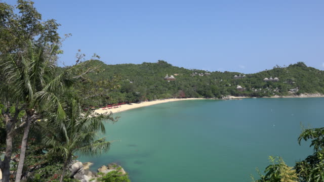 panoramic view of a bay - gulf of thailand stock videos & royalty-free footage