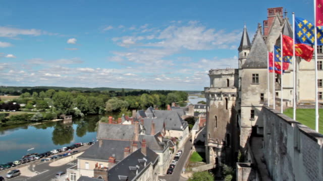 panoramic view of amboise - loire valley - pjphoto69 stock videos & royalty-free footage