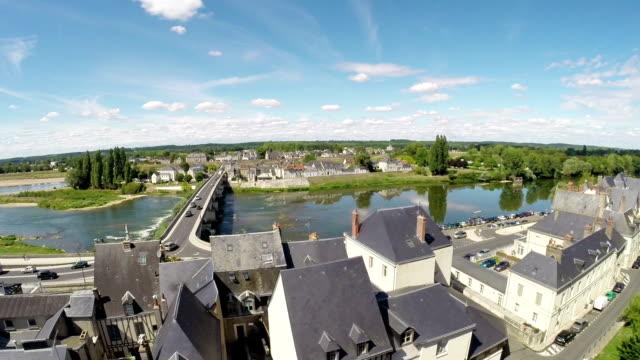 vista panoramica di amboise-valle della loira - cultura francese video stock e b–roll