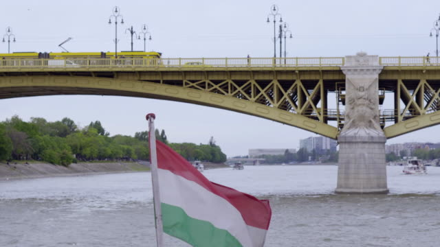 panoramic view of budapest from  the danube river - hungary stock videos & royalty-free footage