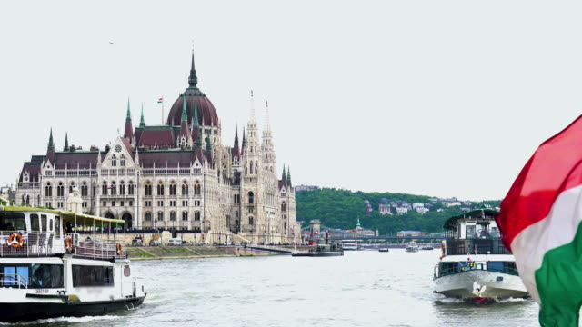 Panoramic View of Budapest from  the Danube river