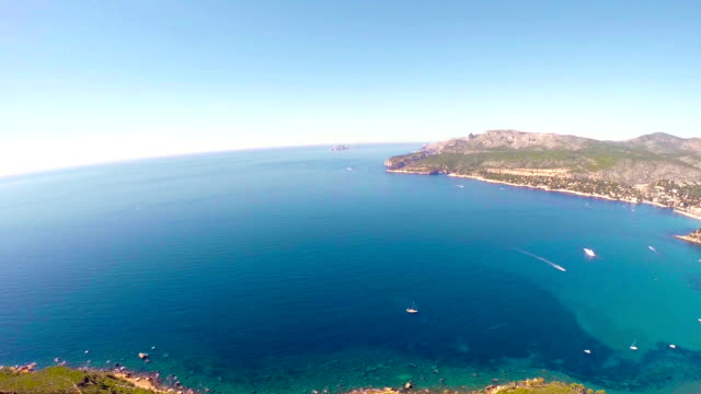 Panoramic view of Cassis and Calanque Coast