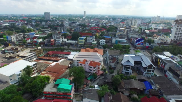 panoramic view of downtown chiang mai / chiang mai, thailand - moat stock videos & royalty-free footage