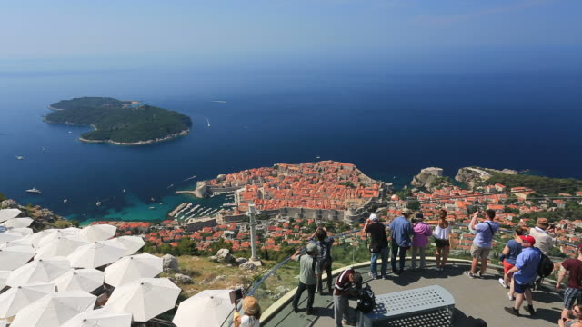 Panoramic view of Dubrovnik city, Dalmatia Coast, Croatia.