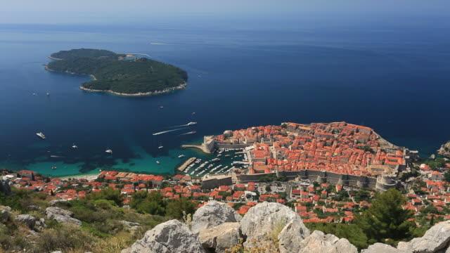 Panoramic view of Dubrovnik city, Dalmatia Coast, Croatia.