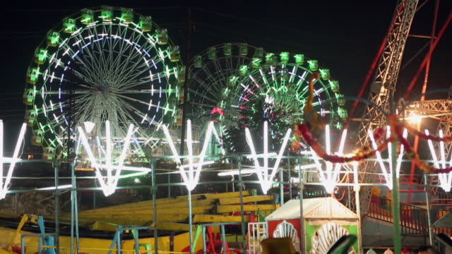panoramic view of dussehra fair, delhi, india - dashahara stock-videos und b-roll-filmmaterial