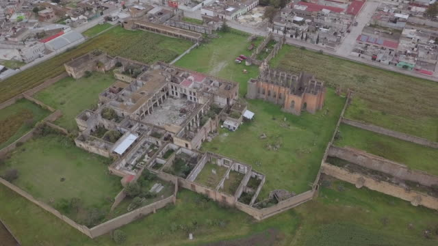 panoramic view of ex hacienda mazapa - rotten com stock videos and b-roll footage