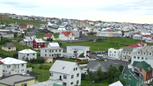 panoramic view of heimaey town, vestmannaeyjar - 1963 stock videos & royalty-free footage