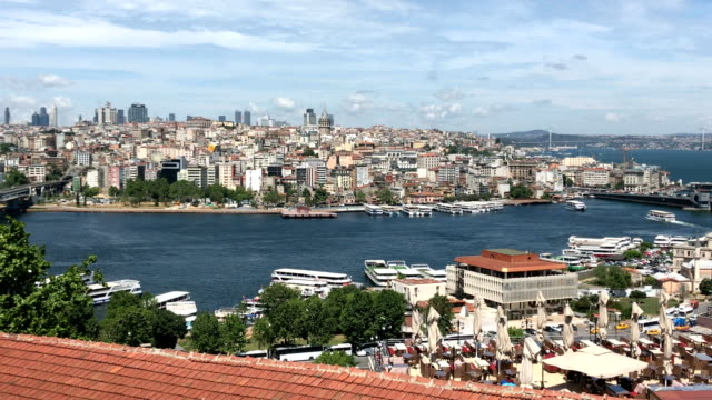 panoramic view of istanbul - bosphorus stock videos & royalty-free footage