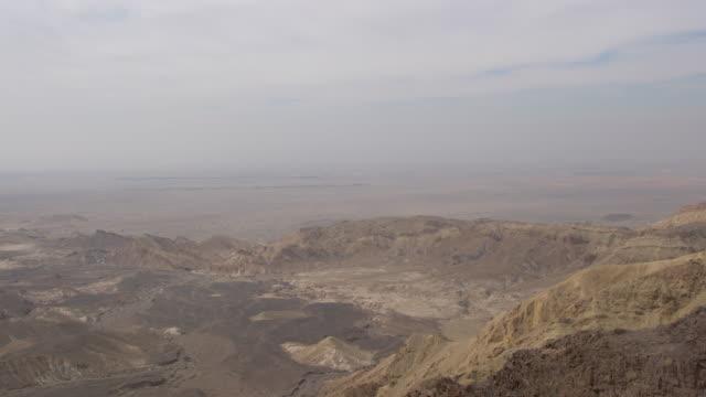 vidéos et rushes de panoramic view of jordan valley, jordan - vallée