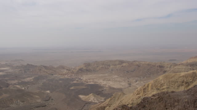 vidéos et rushes de panoramic view of jordan valley, jordan - valley