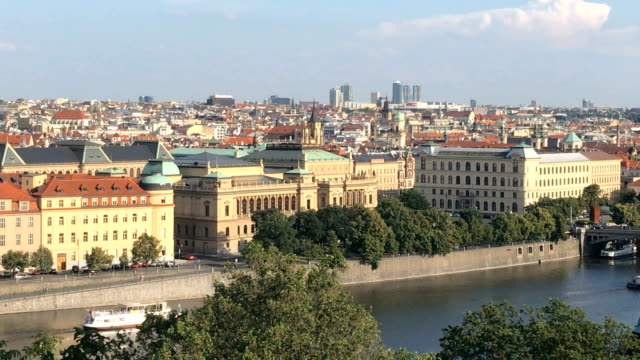 Panoramic view of Prague skyline